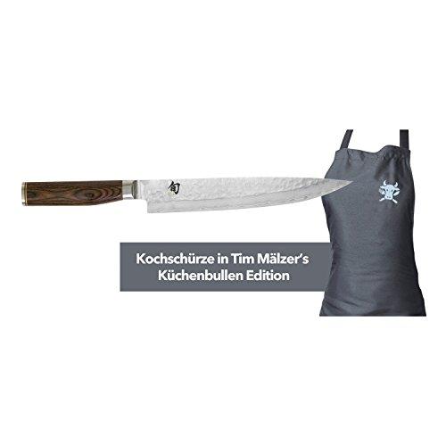 KAI Europe TDM1704-W15 Shun Premier Tim Mälzer Set bestehend aus schinkenmesser und Kochschürze