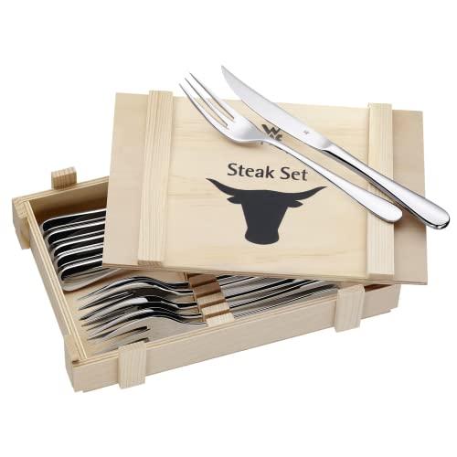 WMF 1280239990 Steakbesteck 12-teilig in Holzkiste